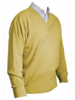 Franco Ponti V-Neck Sweater - Lemon Yellow