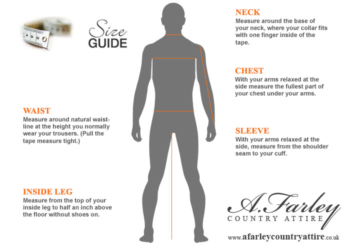 Men's how to measure size guide