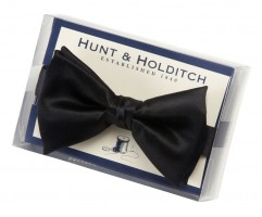 Hunt & Holditch Black Ready Tied Bow Tie
