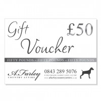 £50 Gift Voucher for A. Farley Country Attire