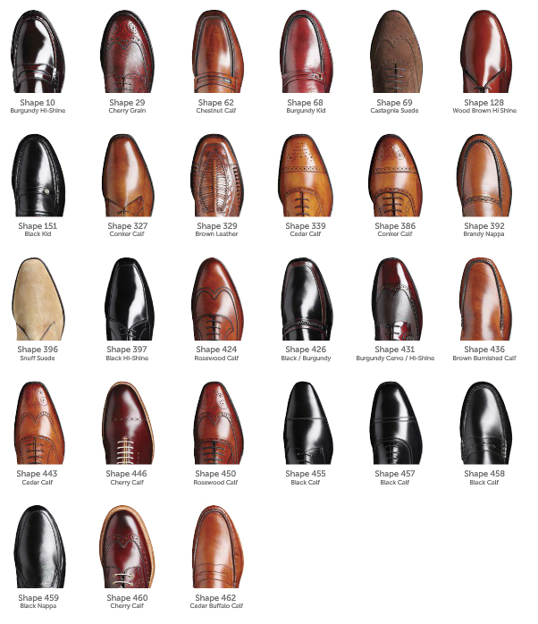 Barker Shoes Last Shapes Guide