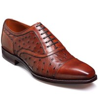 Barker Shoes - Puccini Brown Calf & Ostrich