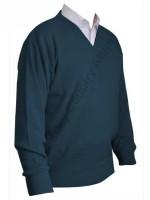 Franco Ponti V-Neck Sweater - Airforce Blue