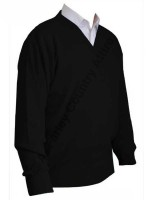 Franco Ponti V-Neck Sweater - Black