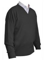 Franco Ponti V-Neck Sweater - Charcoal