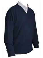 Franco Ponti V-Neck Sweater - Navy