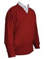 Franco Ponti V-Neck Sweater - Red