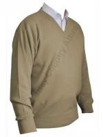 Franco Ponti V-Neck Sweater - Tan