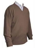 Franco Ponti V-Neck Sweater - Taupe