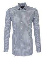Seidensticker Charcoal Stripe Shirt - Classic Pure Cotton