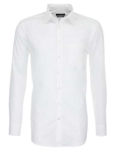 Seidensticker White Shirt - Classic Splendesto Pure Cotton