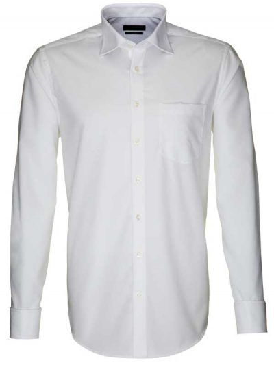 Seidensticker White Shirt - Splendesto Cotton Double Cuff