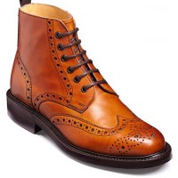 Barker Shoes - Harrison Cedar Calf - Country Brogue Boots