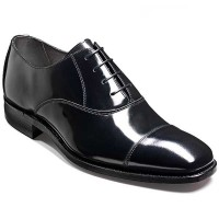 Barker Shoes - Dermot Black Hi-Shine - Oxford Style