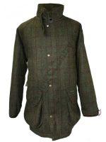Hucklecote Dartmoor Waterproof Shooting Jacket - Green Check Tweed - 838