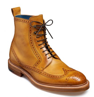 Barker Butcher 2 Brogue Boots - Cedar Hand Painted