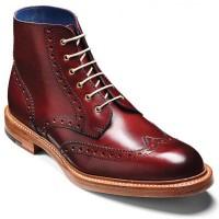 Barker Boots - Butcher Cherry Calf - Country Brogue Boot