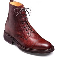 Barker Shoes - Lambourn Cherry Grain Calf - Country Derby Boot