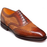Barker Shoes - Cambridge Brown Calf & Snuff Suede