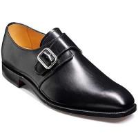 Barker Shoes - Cardiff Black Calf - Single Strap Monk Style