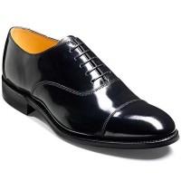 Barker Shoes - Cheltenham Black Hi-Shine - Oxford Style