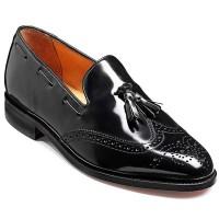 Barker Shoes - Clive Black Hi-Shine - Loafer Style Shoe With Tassel