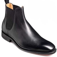 Barker Boots - Eskdale Black Calf - Chelsea Style Boot Wide-Fit