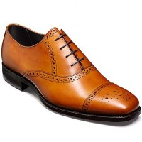 Barker Shoes - Flynn Cedar Calf - Semi Brogue