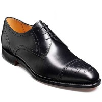 Barker Shoes - Laycock Black Calf - Derby Semi Brogue