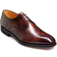 Barker Shoes - Laycock Brown Antique Calf - Derby Semi Brogue