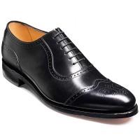 Barker Shoes - Linz Black Calf - Oxford Brogue Style