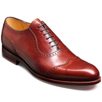 Barker Shoes - Linz Rosewood Calf - Oxford Brogue Style