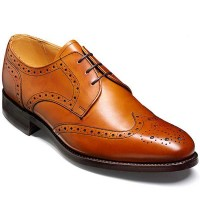 Barker Shoes - Longworth Cedar Calf - Derby Brogue - Wide Fit