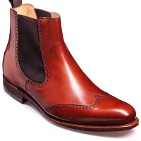 Barker Shoes- Luxembourg Rosewood Calf - Chelsea Boot Wide-Fit