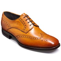 Barker Shoes - Toddington Cedar Calf - Derby Brogue Style Wide-Fit