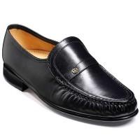 Barker Shoes - Jefferson Black Kid Leather - MoccasinBarker Shoes - Jefferson Black Kid Leather - Moccasin