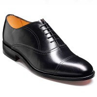 Barker Shoes - Nevis Black Calf - Oxford Style - Wide Fit
