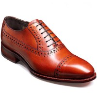 Barker Shoes - Newton Rosewood Calf - Oxford Brogue Style