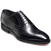 Barker Shoes - Nunthorpe Black Calf - Oxford Brogue Style