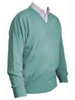 Franco Ponti V-Neck Sweater - Mint