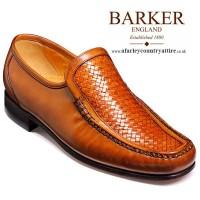 Barker Shoes - Nuneaton Moccasin Cedar & Calf Weave Loafer