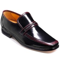 Barker Shoes - Weald Burgundy Kid Leather - Moccasin Loafer
