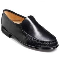 Barker Shoes - Laurence Black Kid Leather - Moccasin Loafer