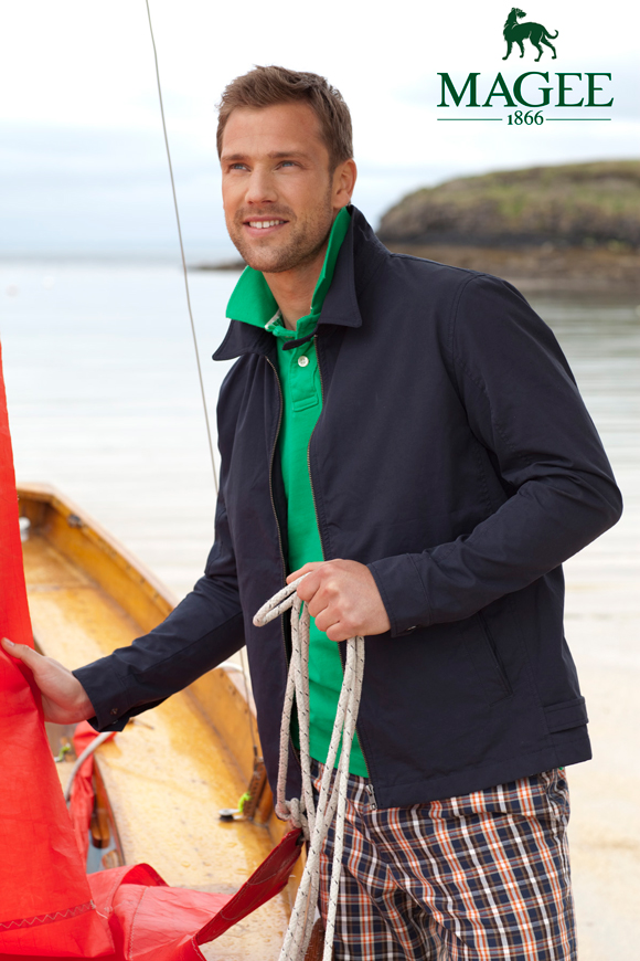 Get The Look: Summer Style - Men's Blouson Jacket & Polo Shirt