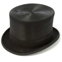 Polished Melusine Fur Black Top Hat by Christys' - Antique Silk Look