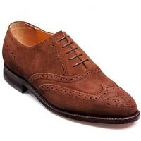 Barker Shoes - Albert Castagnia Suede - Wingtip Brogue Wide-Fit G