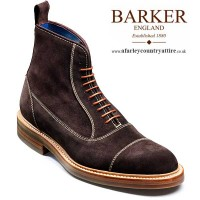 Barker Shoes - Dixon - Balmoral Style Boot - Bitter Choc Suede