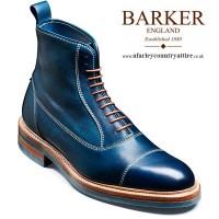 Barker Shoes - Dixon - Balmoral Style Boot - Navy Calf