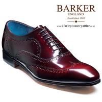Barker Shoes - Holmes - Oxford Wingtip - Burgundy Cobbler