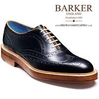 Barker Shoes - Mills - Oxford Brogue - Black Calf